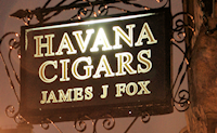 James J Fox opens cigar lounge